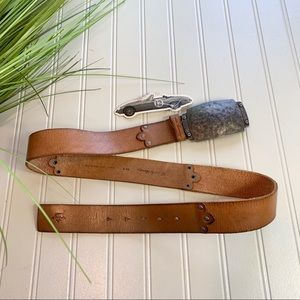 NEW English Laundry leather belt with buckle